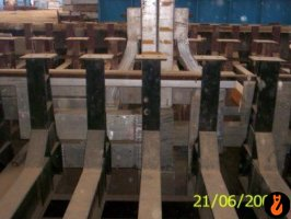 Erection of busbar