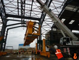 equipment erection at mahan-2